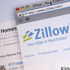 File photo of the Zillow Inc. website (© Scott Eells/Bloomberg via Getty Images)
