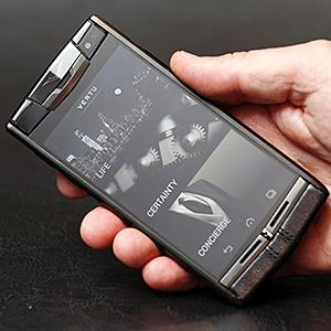 Credit: © Brady Jonathan/Newscom/Ababa PressCaption: The Vertu Signature Touch luxury smartphone