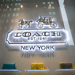 Caption: Coach Inc. store in New York