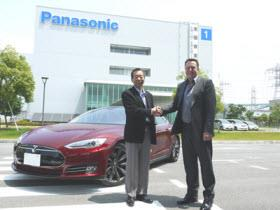 Tesla Panasonic Gigafactory agreement. Photo by Panasonic.