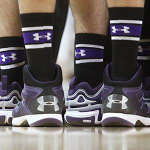 Under Armour shoes worn by players on the Northwestern Wildcats © Matthew Holst/Getty Images