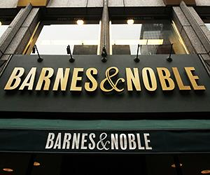 A Barnes and Noble storefront is pictured in New York.