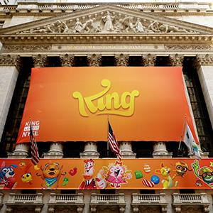 King Digital Media's initial public offering at the New York Stock Exchange, March 26, 2014 © Justin Lane/EPA