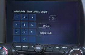 2015 Chevrolet Corvette Valet Mode. Photo by Chevrolet.