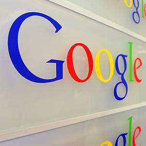 Caption: The entrance of the Google offices in Brussels on February 5, 2014Credit: © Georges Gobet/AFP/Getty Images