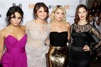 Vanessa Hudgens, Selena Gomez, Ashley Benson, and Rachel Korine/AP