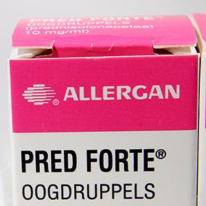 Allergan Pred Forte eye drops © Stuwdamdorp/Alamy