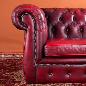 A leather Chesterfield sofa © Maurice van der Velden/Getty Images