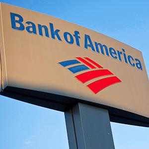 A Bank of America sign at a branch in Greenville, S.C. © Chris Keane/Reuters