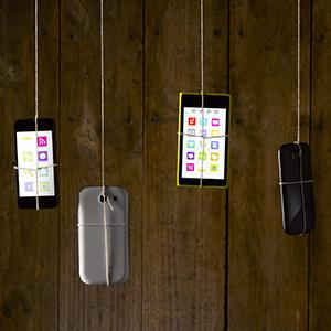Portrait of various smartphones © Jeffrey Coolidge/Getty Images