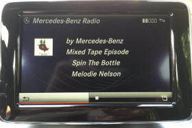 Mercedes-Benz Radio in a 2014 CLA250