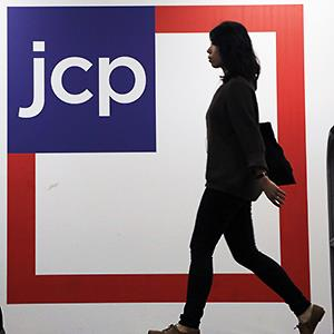 Caption: Customers shop at a J.C. Penney store, in New York 