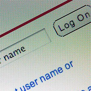 User name field on computer screen © William Andrew, Photographer