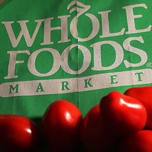Produce on a Whole Foods paper bag © Elise Amendola/AP