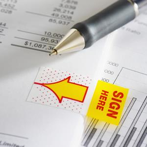 Bank loan document © Southern Stock Corp/Corbis