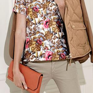 J. Crew Collection antiqued floral top (© J. Crew)
