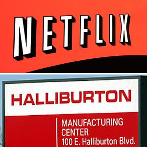 (From top) Netflix Inc in San Jose Calif. & Halliburton manufacturing facility in Duncan, Okla. © MTP/Alamy; Robert Hughes/ZUMA Press