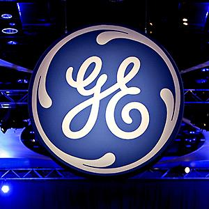 The General Electric logo is displayed during the company's 2010 annual meeting in Houston © Aaron M. Sprecher/Bloomberg via Getty Images