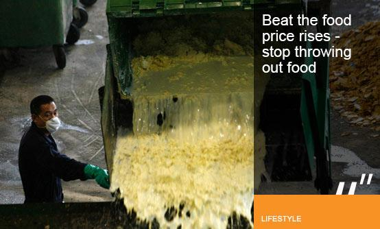 Beat the food price rises, stop throwing out food (Image (c) VIVEK PRAKASH/Newscom/RTR)