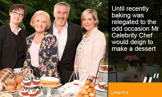 Baking, it's not just for girls. Great British Bake-off team (Image (c) Love Productions-BBC-Amanda Searle)