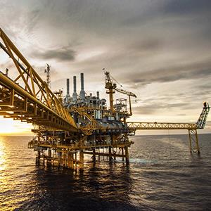 Caption: Oil and gas platform