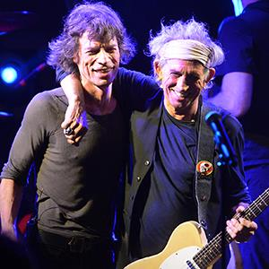 Mick Jagger and Keith Richards of The Rolling Stones