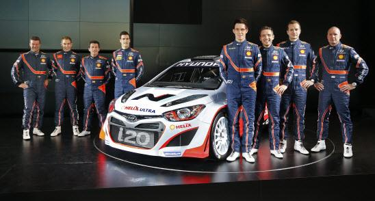 Hyundai WRC car and team. Photo by Hyundai.