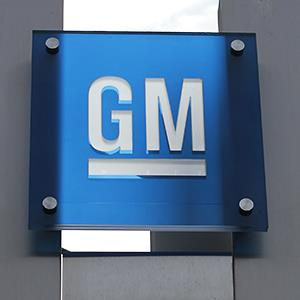 The General Motors Co. logo is seen at their world headquarters in Detroit, Mich. © Jeff Kowalsky/Bloomberg via Getty Images