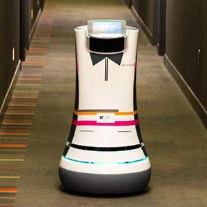 Botlr robot at Starwood Hotel / Courtesy of Justin Solomon