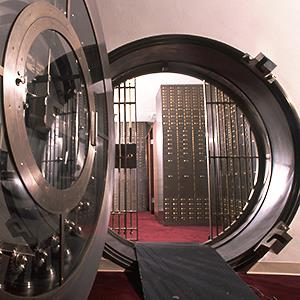Bank vault © Spencer Grant/Getty Images