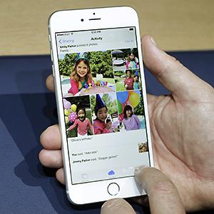 Credit: © Marcio Jose Sanchez/APCaption: The iPhone 6 plus is shown during a new product release in Cupertino, Calif.
