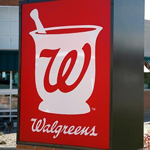 Credit: © Rick Wilking/ReutersCaption: The Walgreens sign at an outlet in Westminster, Colo.