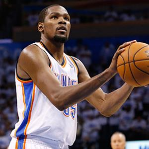 Credit: © Sue Ograki/AP PhotoCaption: Oklahoma City Thunder forward Kevin Durant (35) shoots a technical foul shot in the second quarter of Game 4 of the Western Conference finals NBA basketball playoff series against the San Antonio Spurs in Oklahoma City