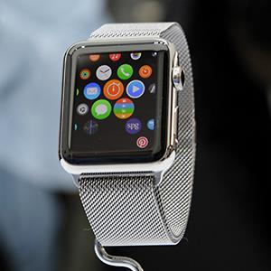 The Apple Watch is displayed in Cupertino, Calif. © David Paul Morris/Bloomberg via Getty Images