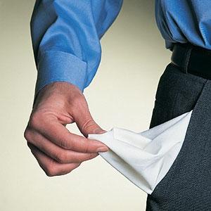 Man with empty pockets © Digital Vision Ltd.