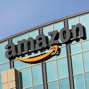 Caption: An office building occupied by Amazon.com in Sunnyvale, Calif.