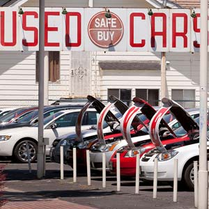 Used car lot in California © B Christopher/Alamy