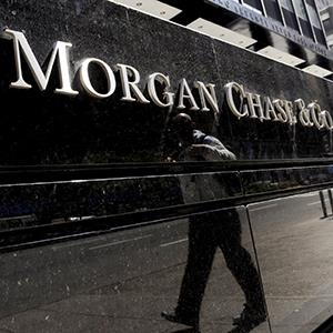 File photo of a sign at a JPMorgan Chase building in New York © Justine Lane/EPA