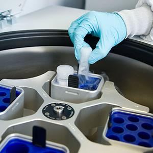 Credit: © Spain, S.L./age footstock/AlamyCaption: A centrifuge in a biopharmaceutical lab