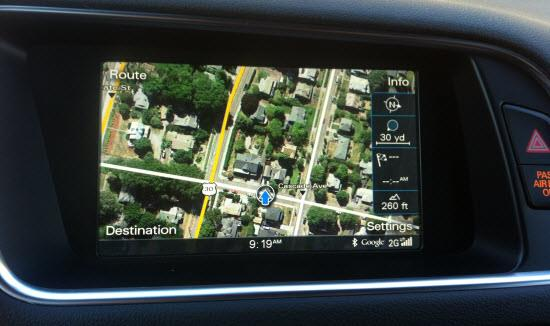 Audi Q5 Google Earth mapping