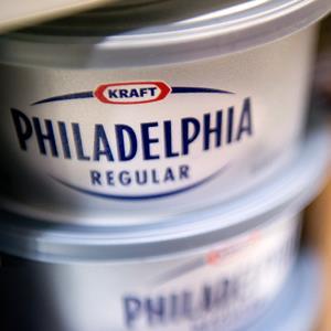 Kraft Foods Group Inc. Philadelphia cream cheese tubsDavid Paul Morris/Bloomberg via Getty Images