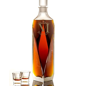A bottle of the Macallan whiskey that went for $630,000 at auction. © Newscom/PR Newswire