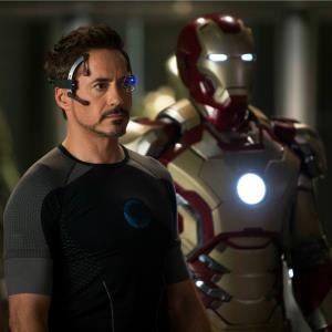 This undated publicity image provided by Marvel shows Robert Downey Jr., as Tony Stark/Iron Man, in a scene from