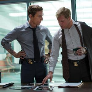 Matthew McConaughey, left, and Woody Harrelson from the HBO series 'True Detective' (c) AP Photo/HBO, Michele K. Short