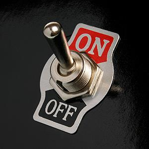 On/off switch © imageBROKER/Alamy