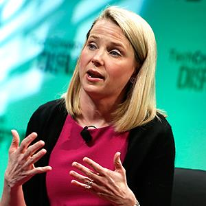 Credit: © Brian Ach/Getty ImagesCaption: Yahoo! CEO, Marissa Mayer speaks at TechCrunch Disrupt NY, May 7, 2014