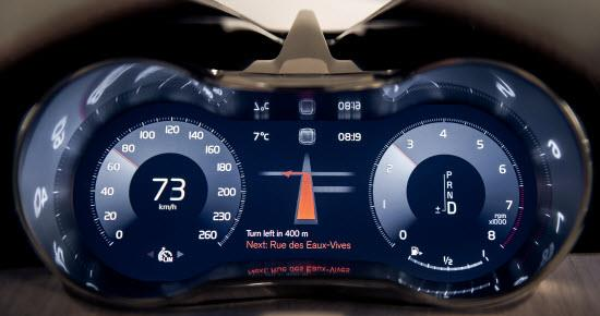 Volvo instrument panel interface. Photo by Volvo.