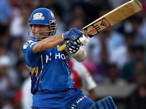 Sachin Tendulkar in action for the Mumbai Indians (AP Photo)