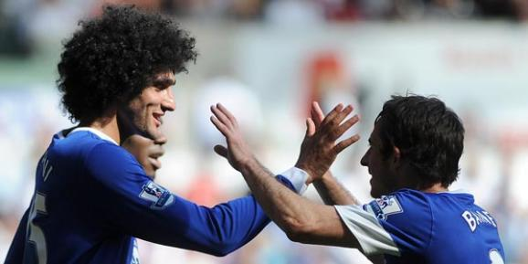 Fellaini and Baines - PA