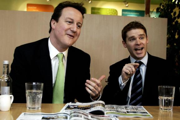 Aidan Burley (left) and David Cameron